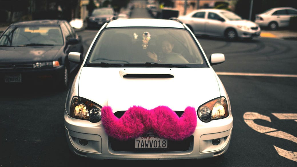 A Lyft car. Creative commons photo courtesy of Flickr user Alfredo Mendez.