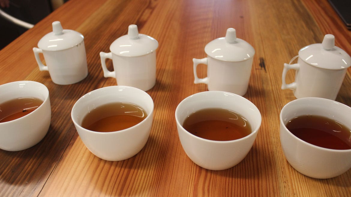 four cups of tea