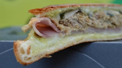 A closer look at the Cuban Sandwich from the Plantain District.