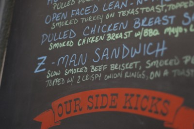 "Get it your way: You can pretty much ""Z-man"" anything on the menu."