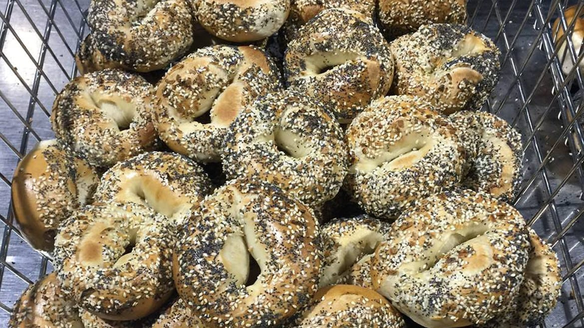 There's no New York water in these locally-made everything bagels from Meshuggah Bagels. (Credit: Meshuggah Bagels)