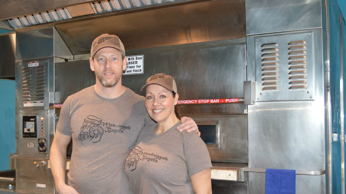 Pete and Janna Linde have responded to the public's enthusiasm about their bagels by opening a brick-and-mortar store on 39th Street in Kansas City. (Photo: Jonathan Bender | Flatland)