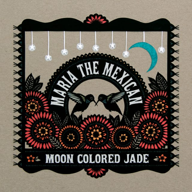 "Cover art for Maria the Mexican's first album, ""Moon Colored Jade""."
