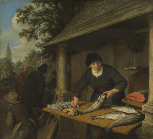Adriaen van Ostade, Dutch (1610–1684). The Fishwife, 1672. Oil on canvas.