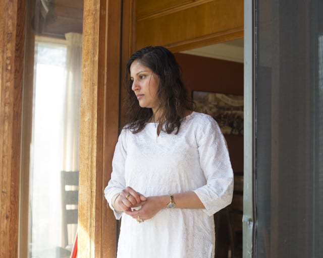 Humaira Mirza at home (Photo portrait by Lara Shipley | Flatland)