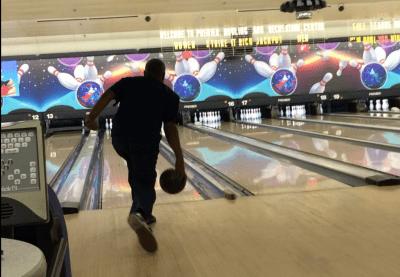 Raymond Fowler bowling