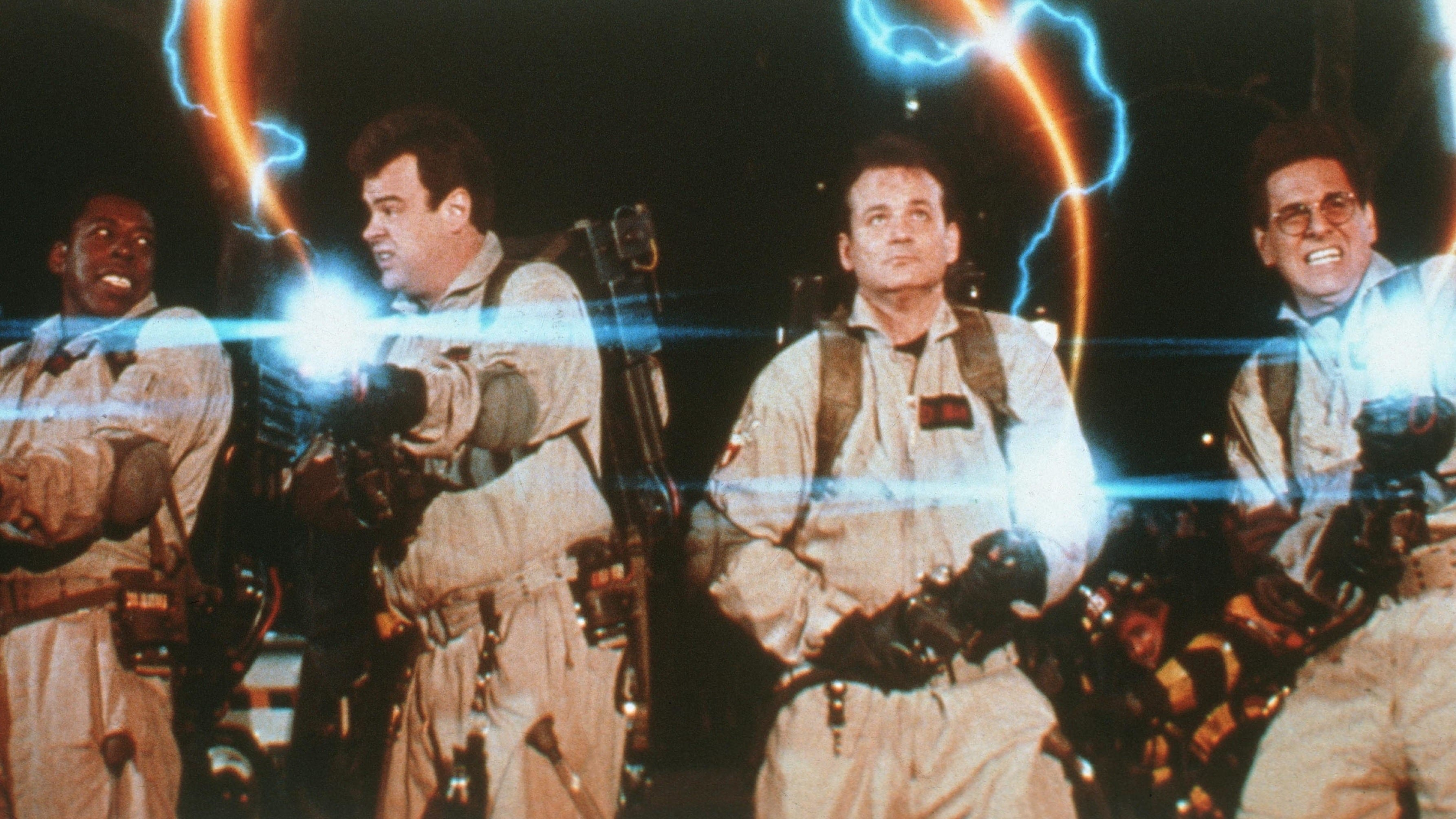 Bustin' Makes Them Feel Good: Ernie Hudson, Dan Aykroyd, Bill Murray, and Harold Ramis in 1984's Ghostbusters.