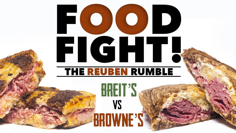 two reuben sandwiches