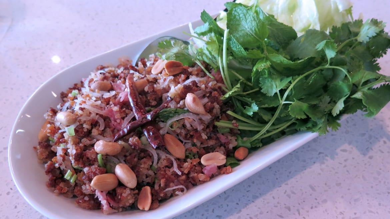 Crispy rice salad.