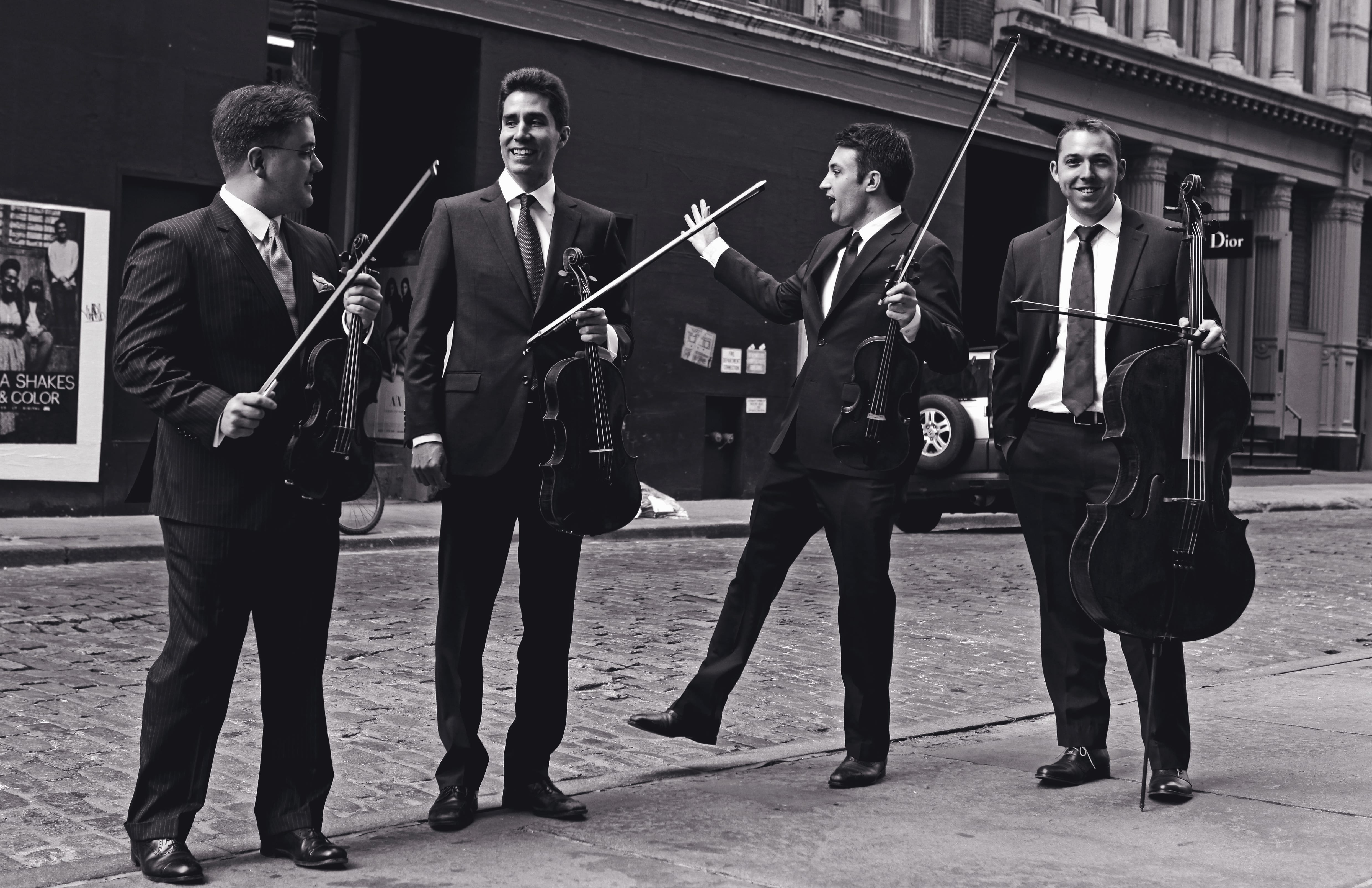 A string quartet.