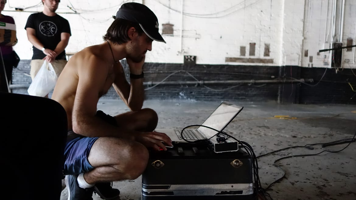 A man and a computer