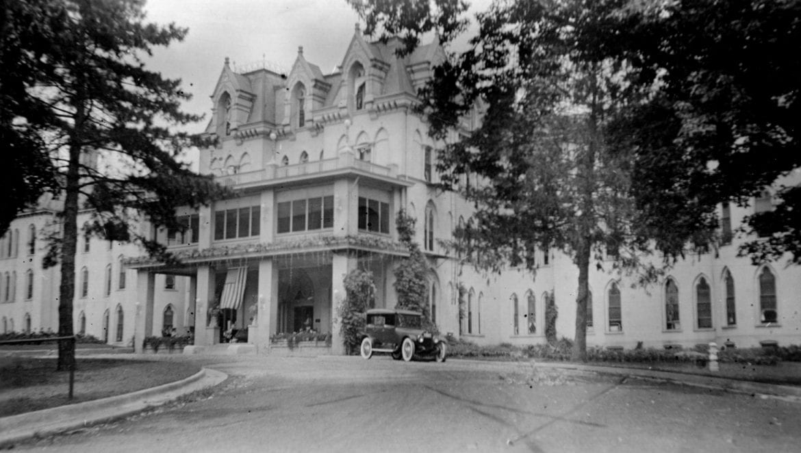 old state hospital building in St. Joe