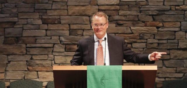 Adam Hamilton at pulpit