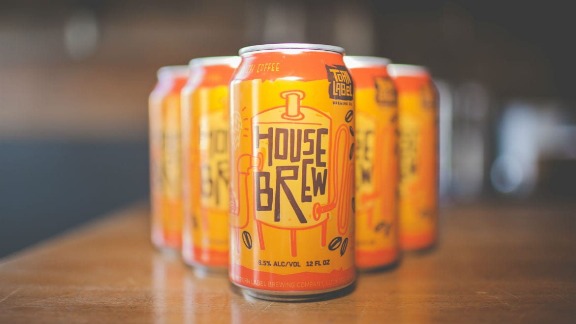 Torn Label Brewing Co.'s cans