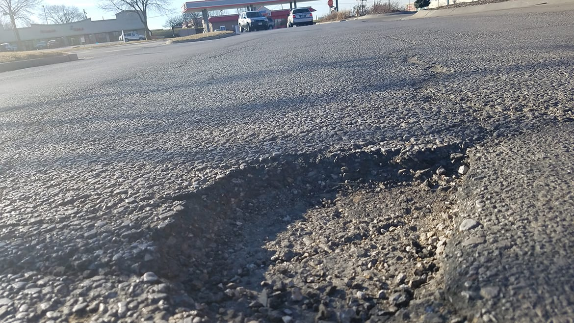 Picture of pothole