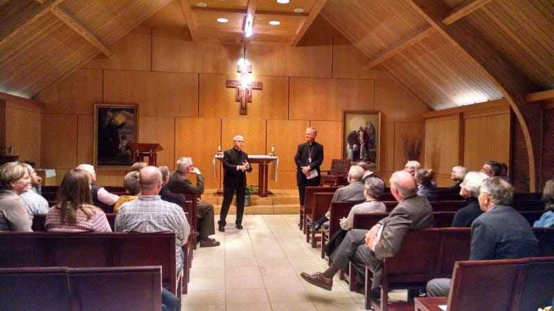 Father Paul Turner and Bishop James V. Johnston Jr. speak about the Protestant Reformation