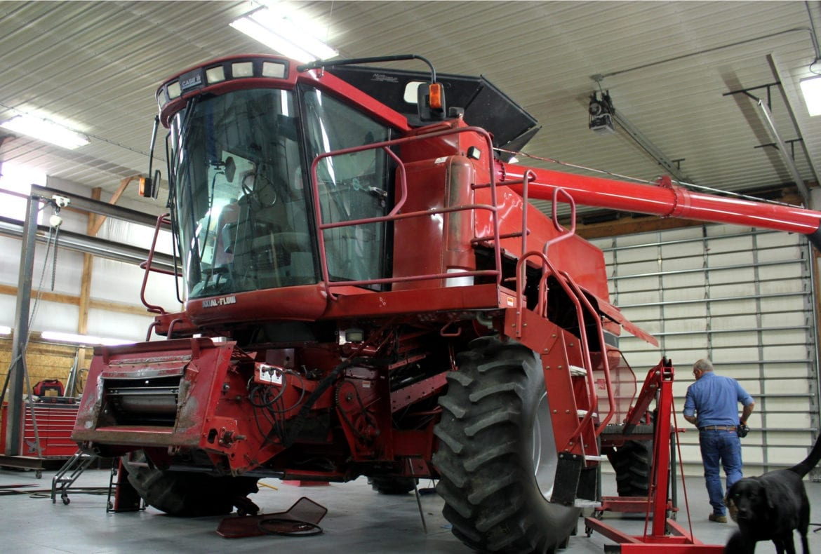 A tractor combine
