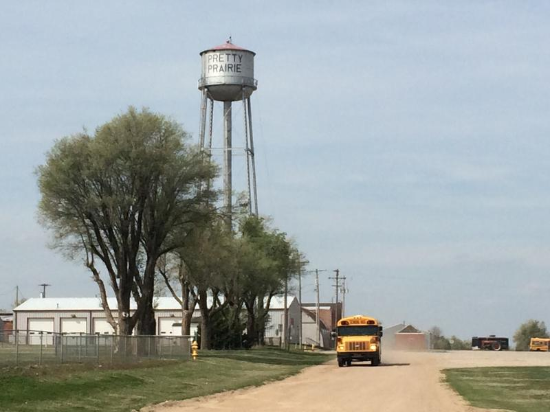 school bus in pretty prairie kansas