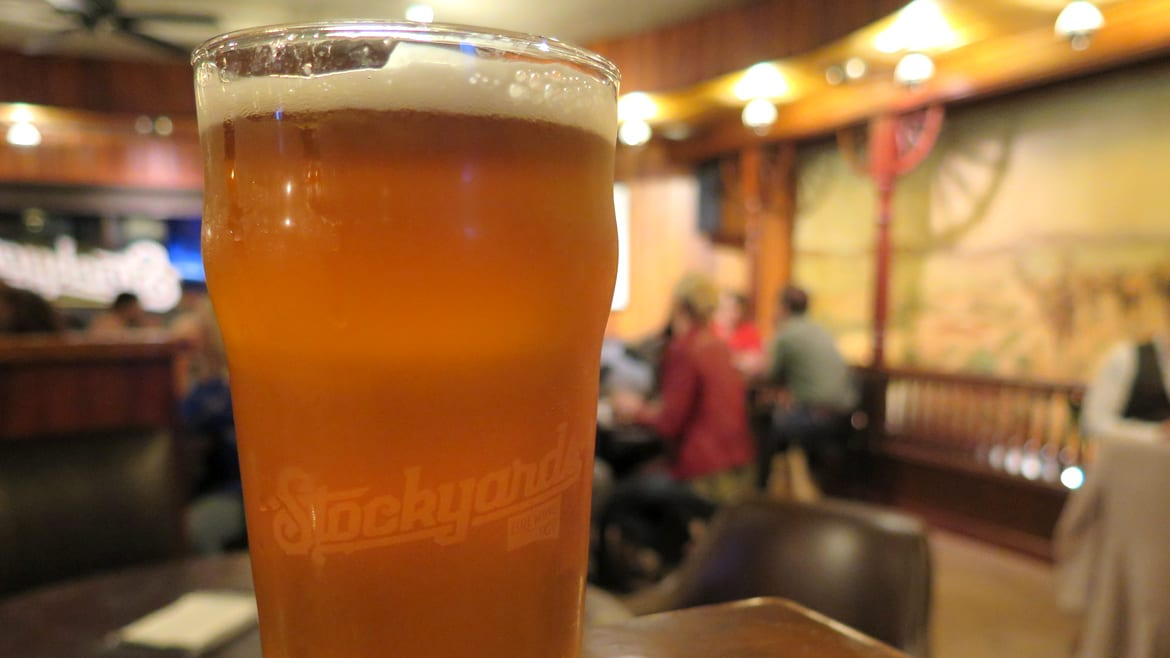 A beer at Stockyards Brewing