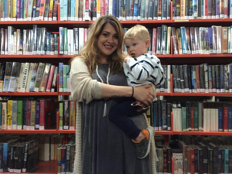 Amy Tiemeyer with her son