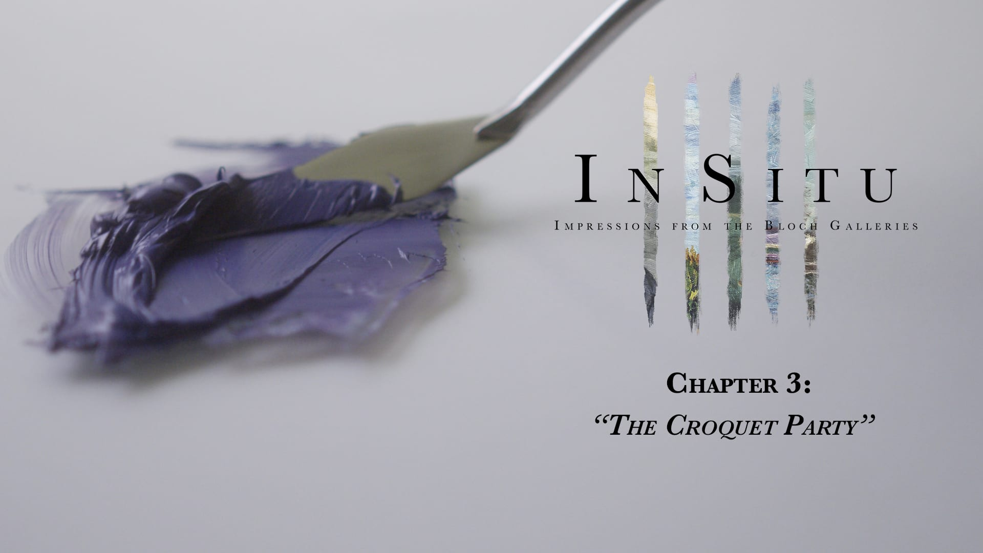 "Title screen for ""In Situ"" Chapter 3 ""The Croquet Party"""