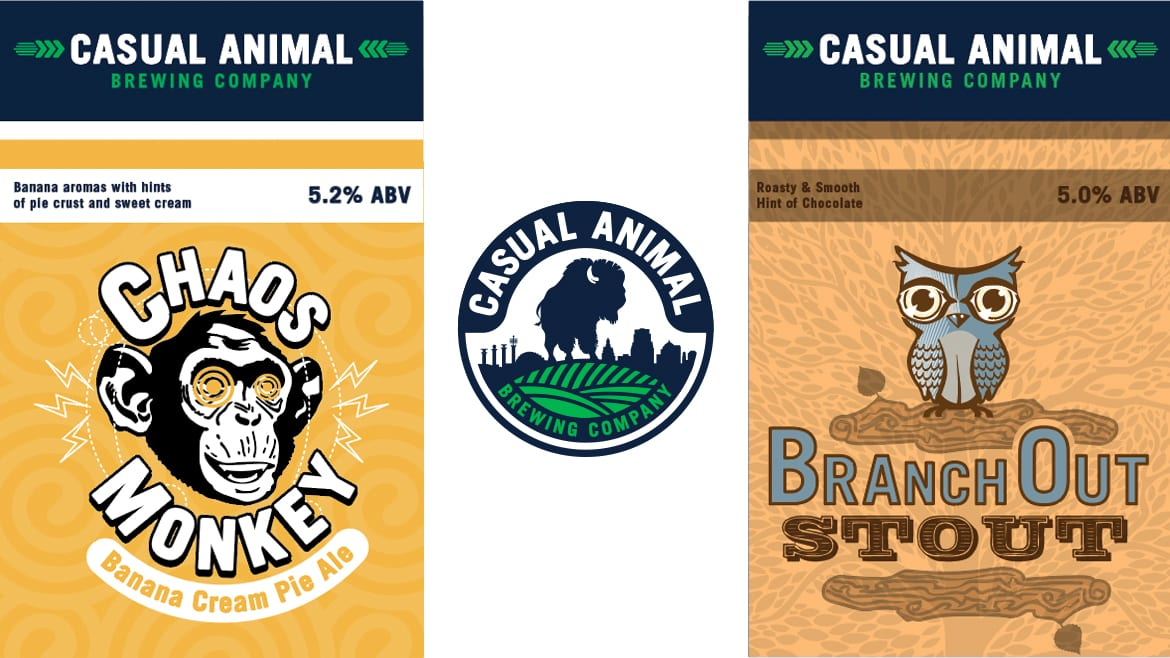 casual animal labels