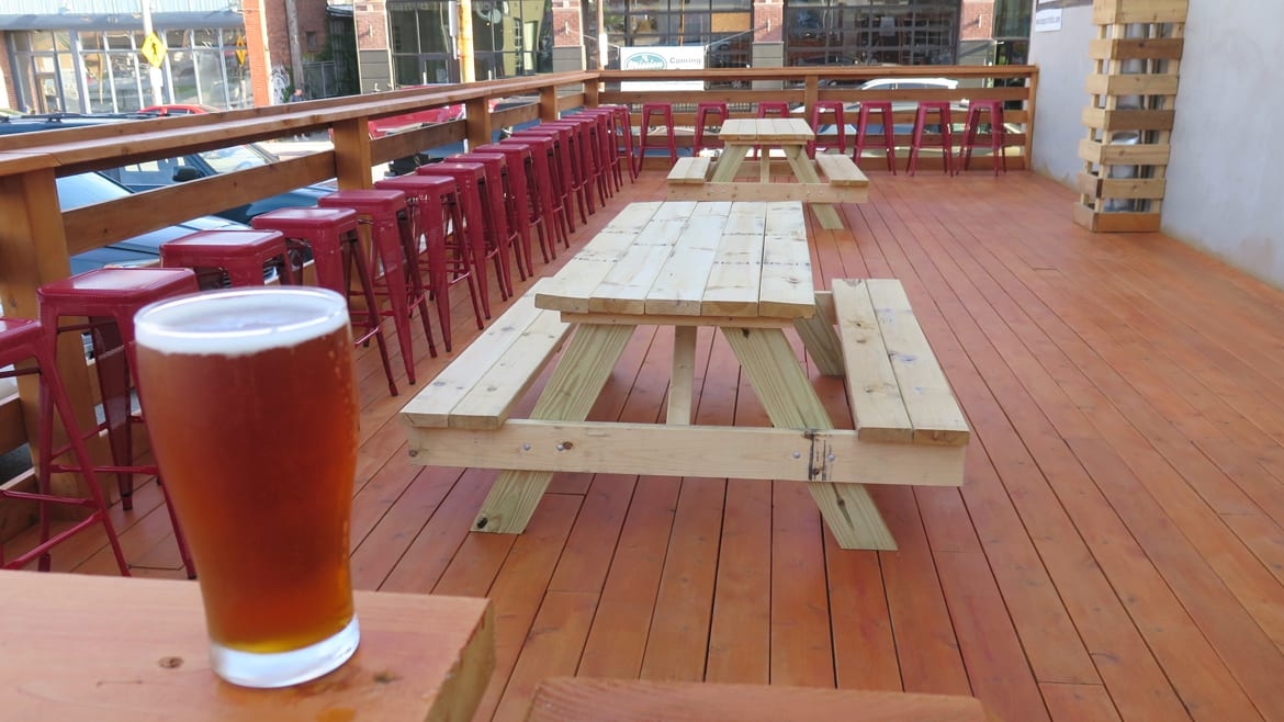 Patio Pale Ale on Border Brewing's new patio