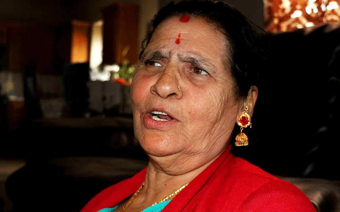 A woman, Laxmi Ghimire