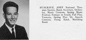 high school photo for John Musgrave