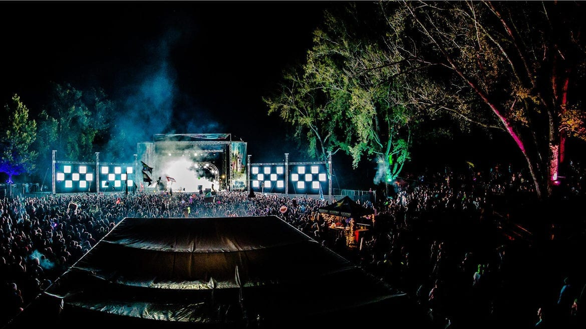 A stage at a music festival