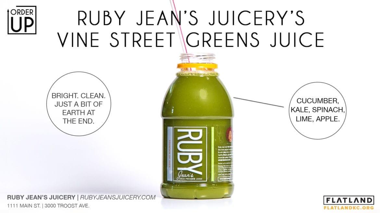 Ruby Jean's Juicery Vine Street Greens Juice
