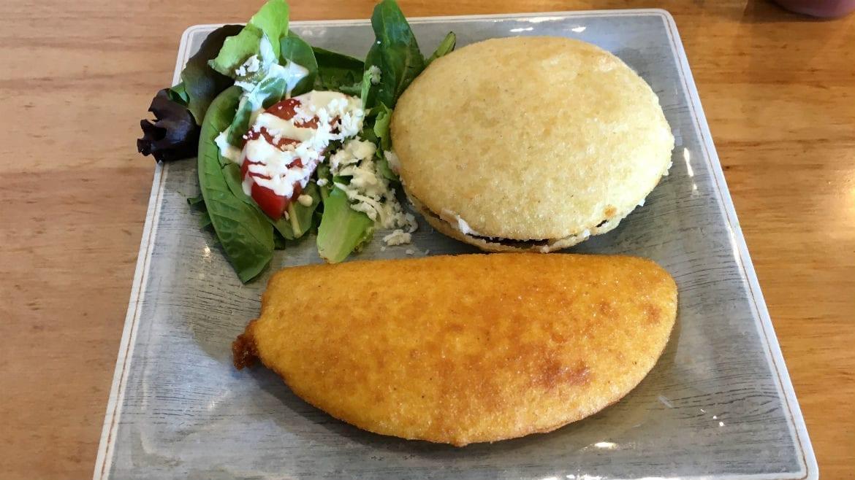 papusas and empanadas