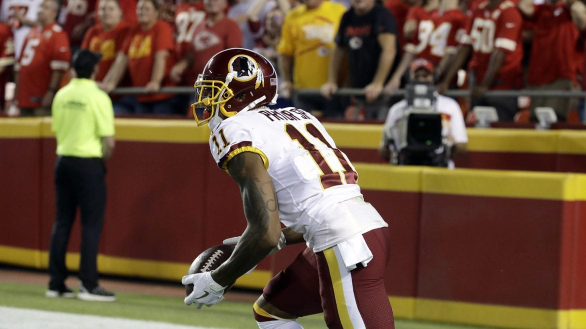 Redskin wide receiver Terrell Pryor