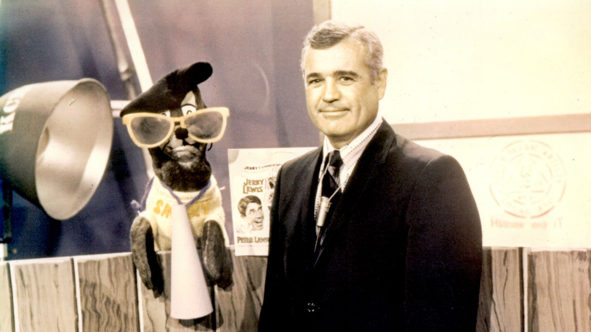 Smaky the Seal and Ted Llewellyn.