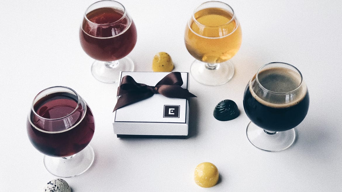 Boulevard is pairing beer with Christopher Elbow chocolates.