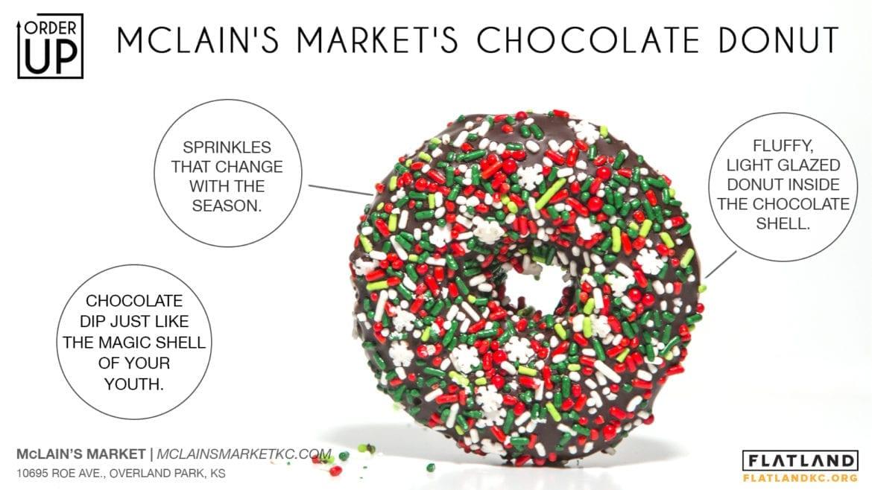 mclain's market's chocolate donut