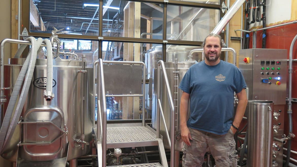 Rock and Run Brewery co-owner and head brewer Gene DeClue.