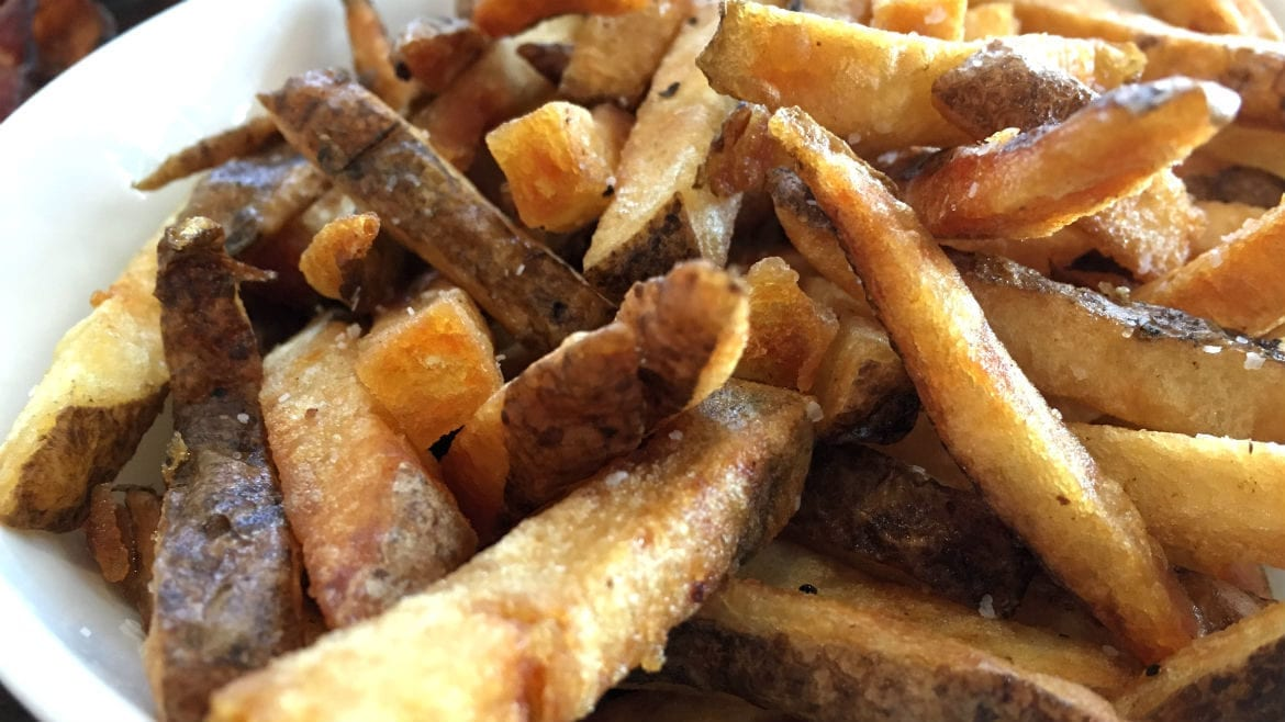 hand-cut fries.