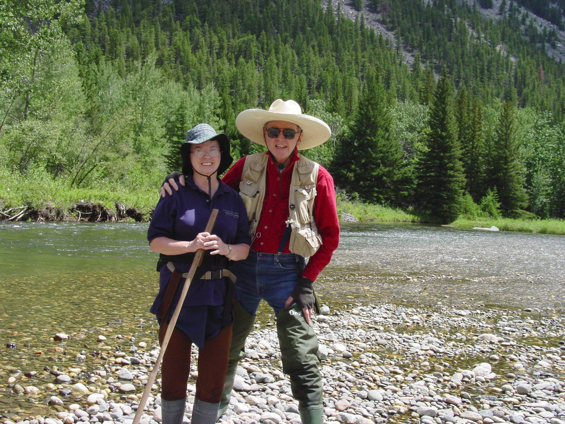 At the Boulder River in Montana in July 2004
