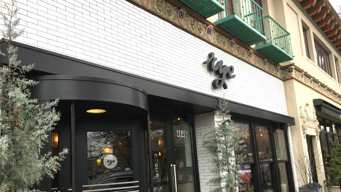 Rye recently opened on the Country Club Plaza