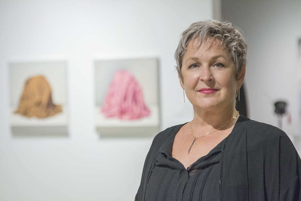 Kim Weinberger at her gallery