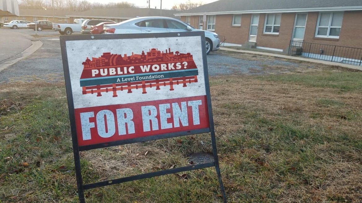For rent sing - Public Works logo