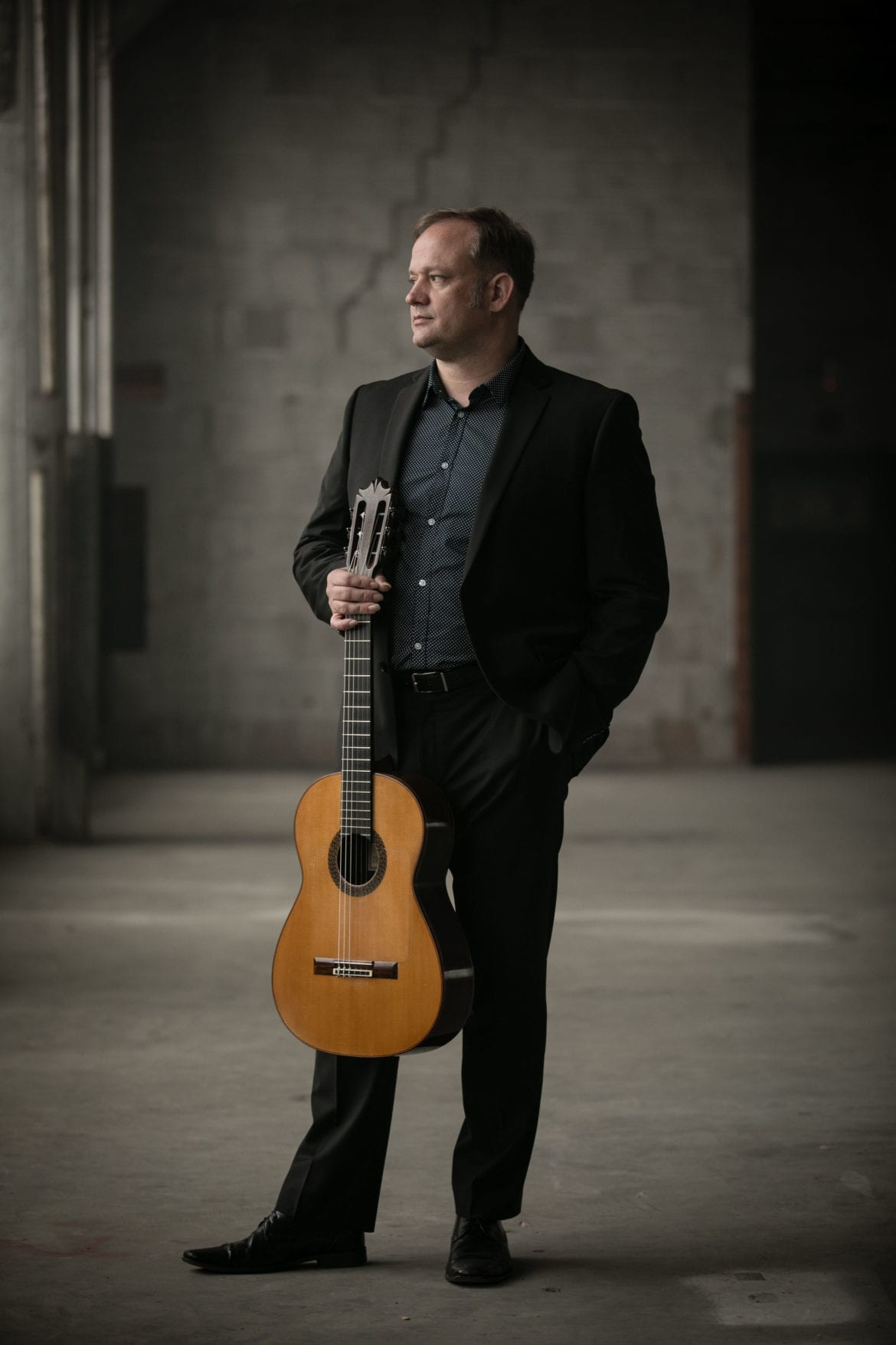 a man and a guitar