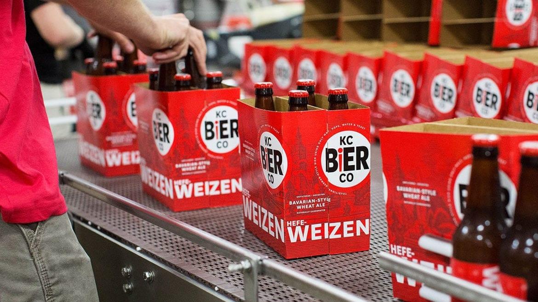 Kansas City Bier Company's bottling line