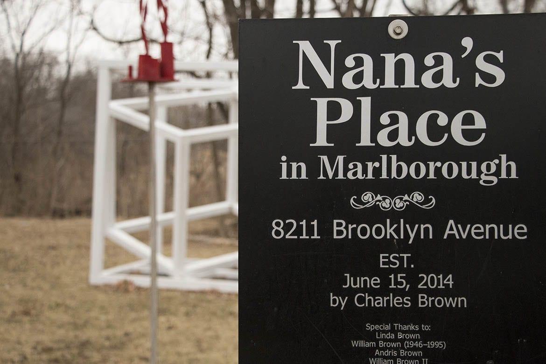 sign for nana's place pocket park