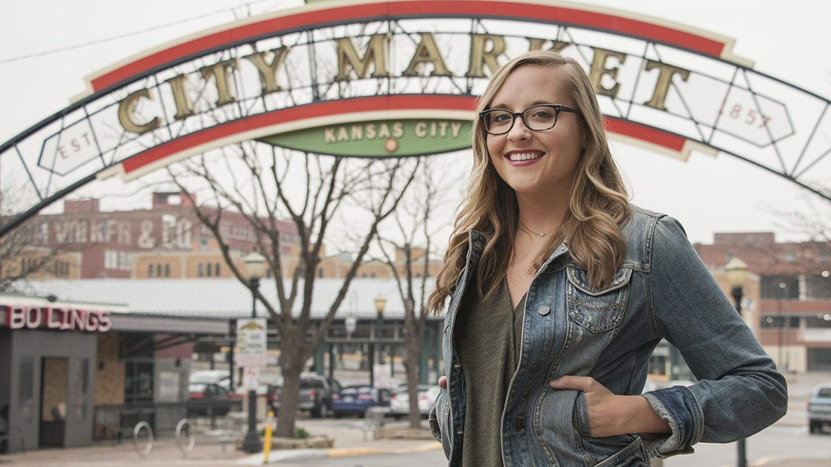 Bailey Barry in the City Market
