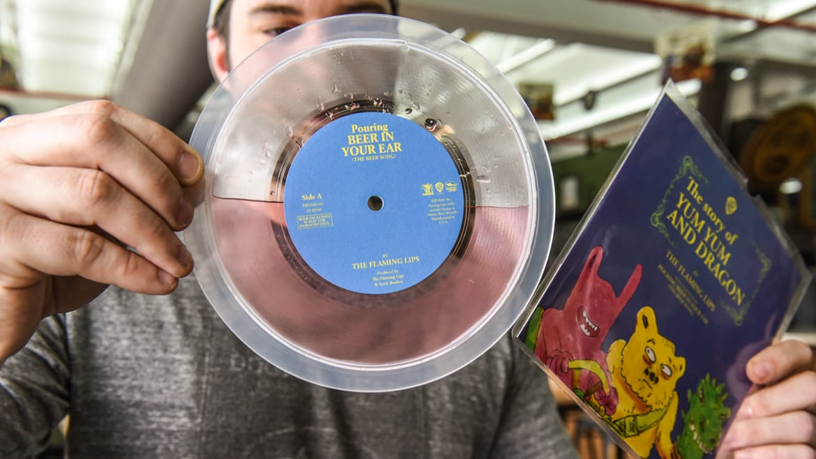 Dogfish Head and the Flaming Lips have a collaboration for National Record Day.