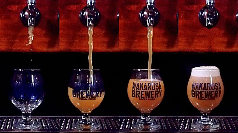 Wakarusa brewery taps