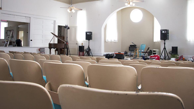 sanctuary of Calvin Coolidge's church