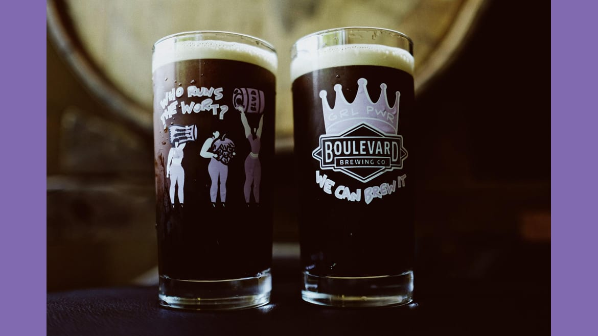 Women at Boulevard developed and brewed Test Salted Caramel Stout